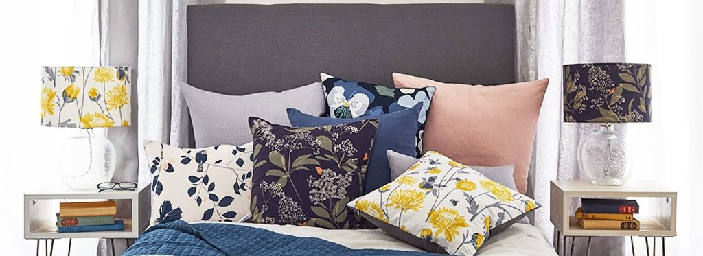 January Sale - Garden Collection - Cushions and Lampshades - Lorna Syson Homeware