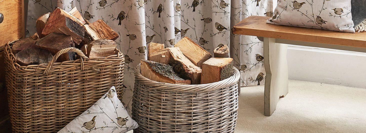 great british flora fauna home interiors goldcrest cushion - bird design - Lorna Syson