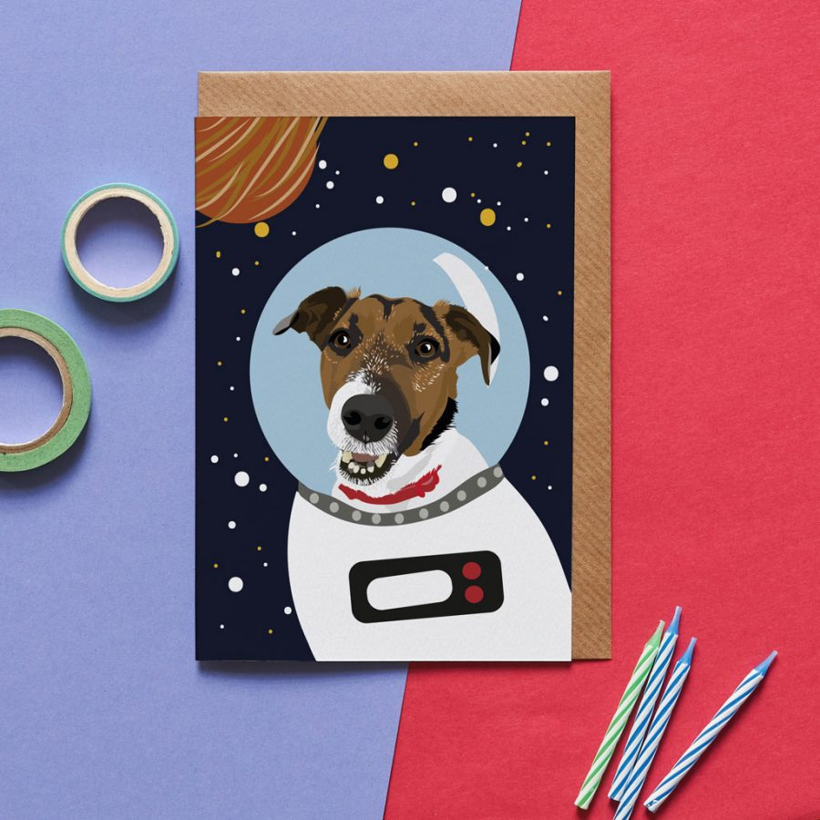 Jack The Jack Russell Astro Dog Card