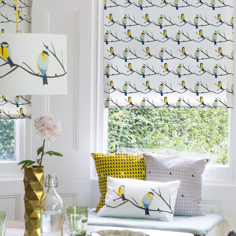 Juneberry roller blind printed by order blinds