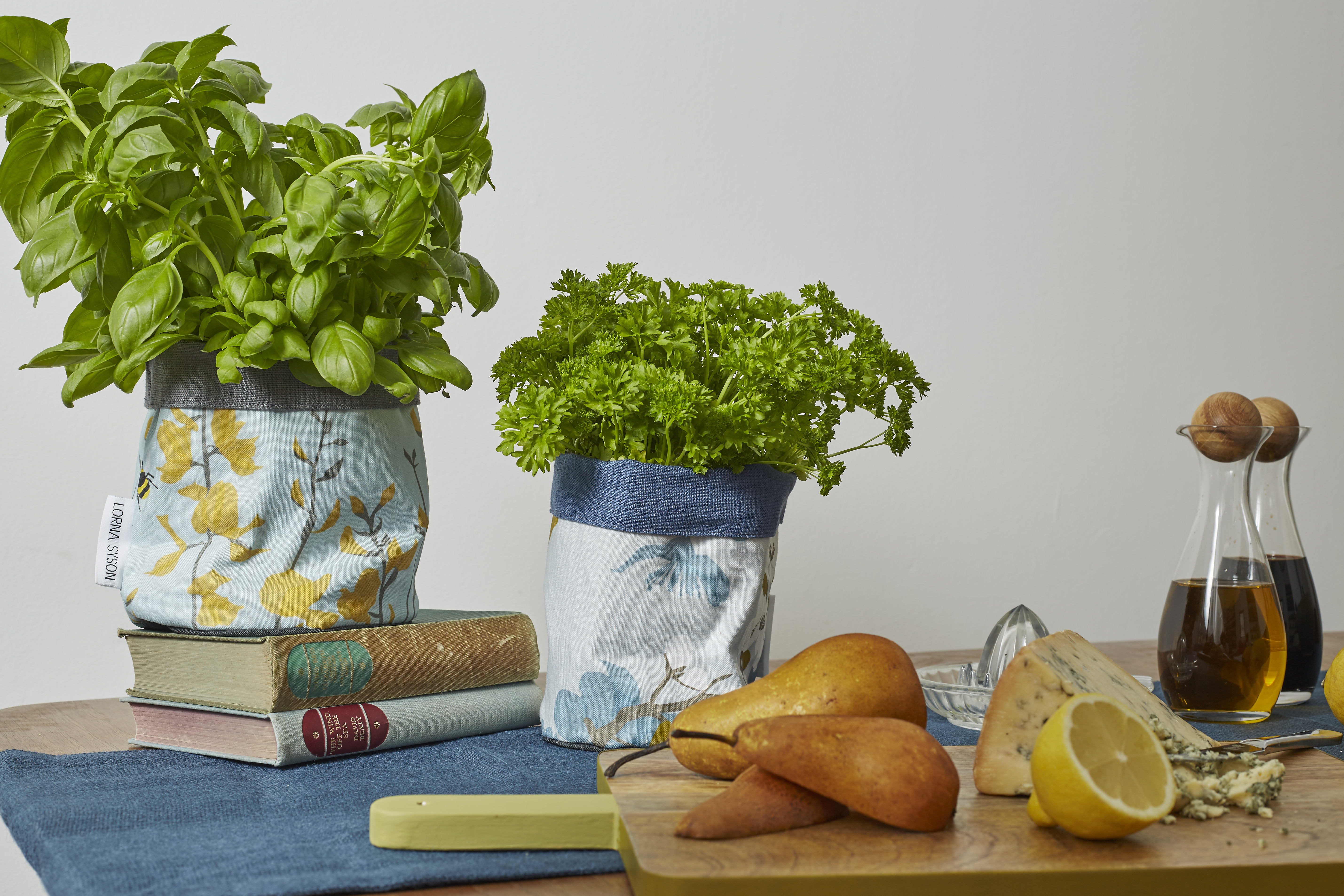 Lorna Syson herb planters