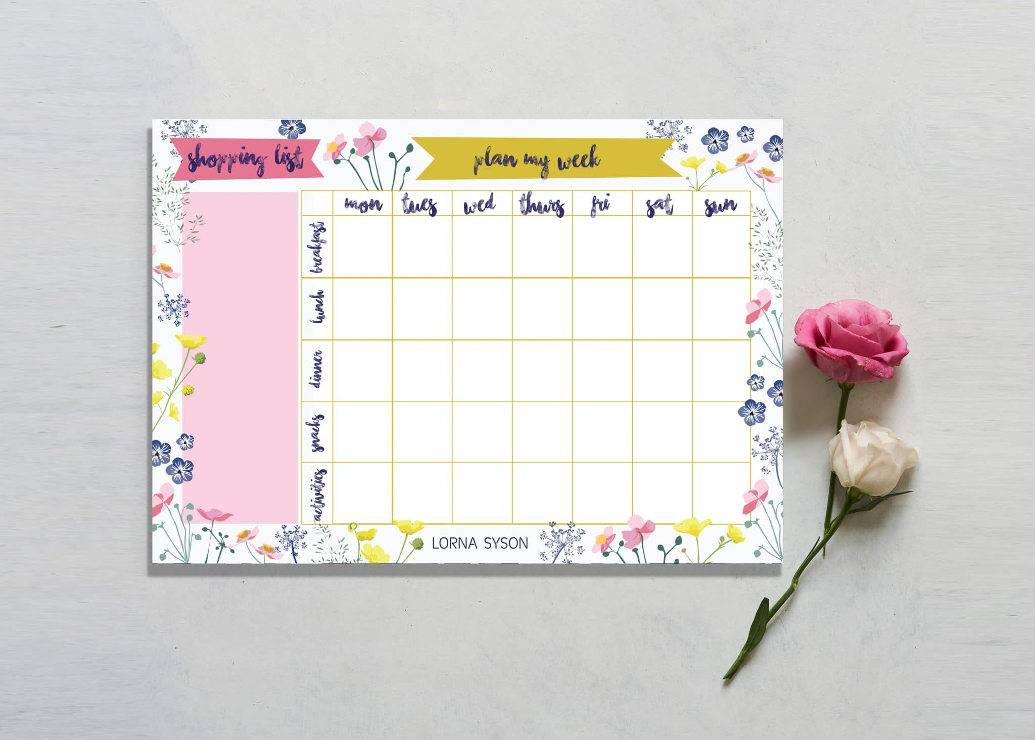 MEADOW weekly planner
