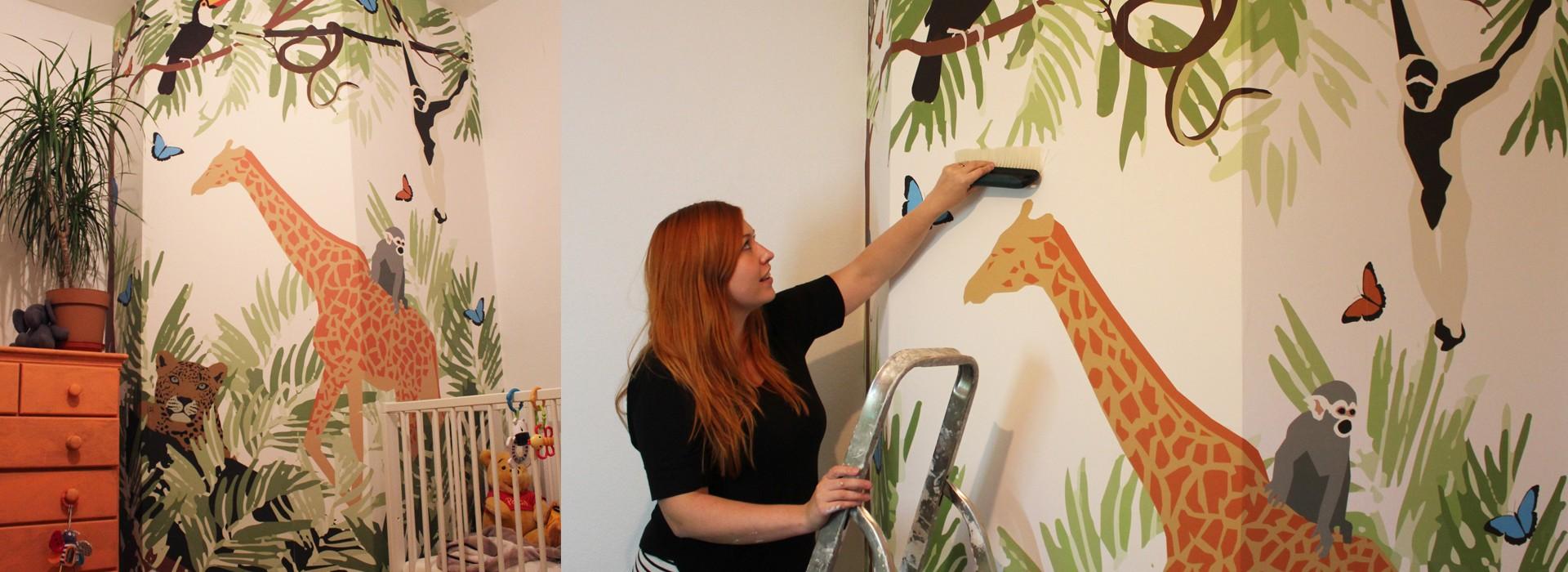Freelance Wallpaper Designer UK Commissions Made to Order jungle mural
