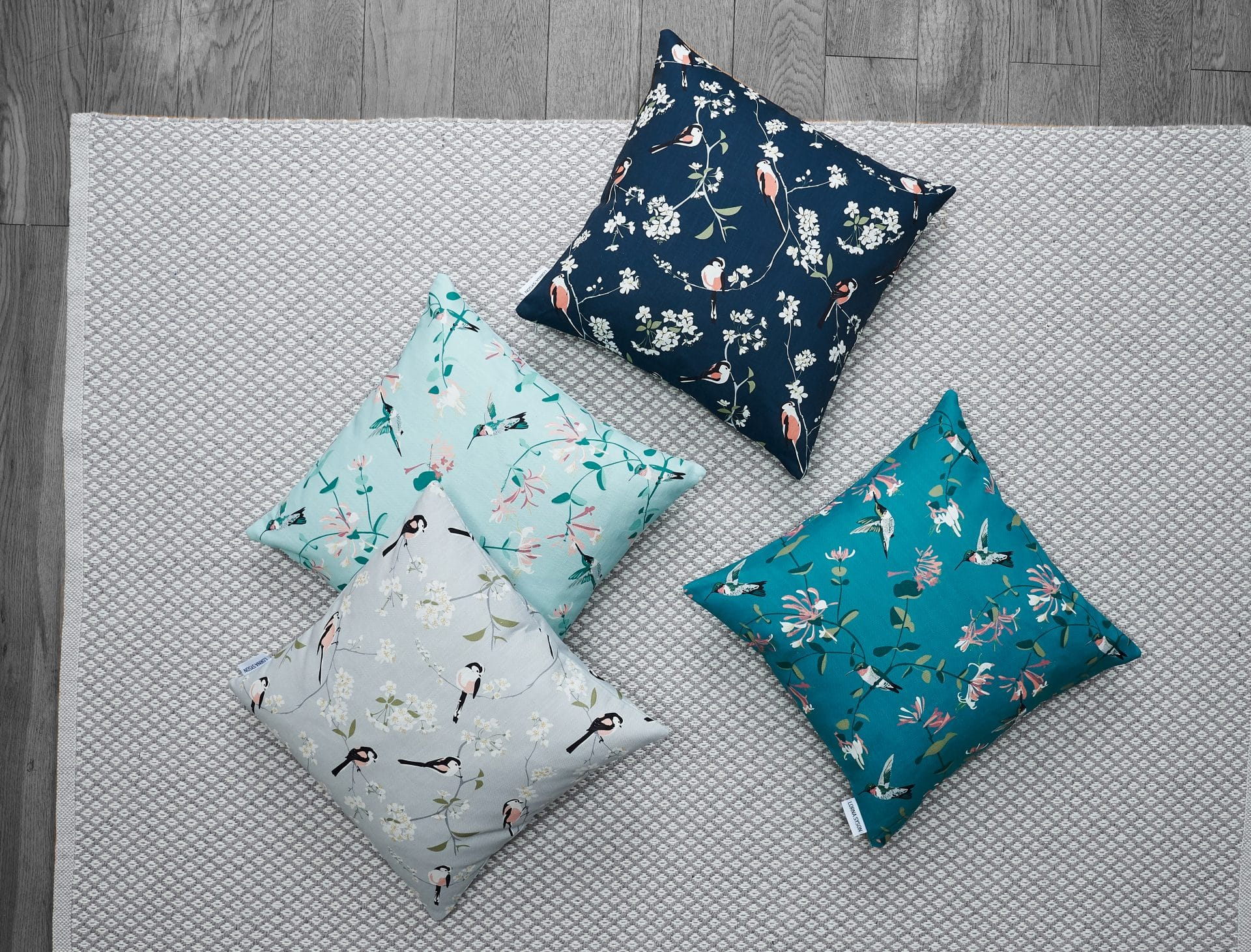 RSPB cushions by Lorna Syson