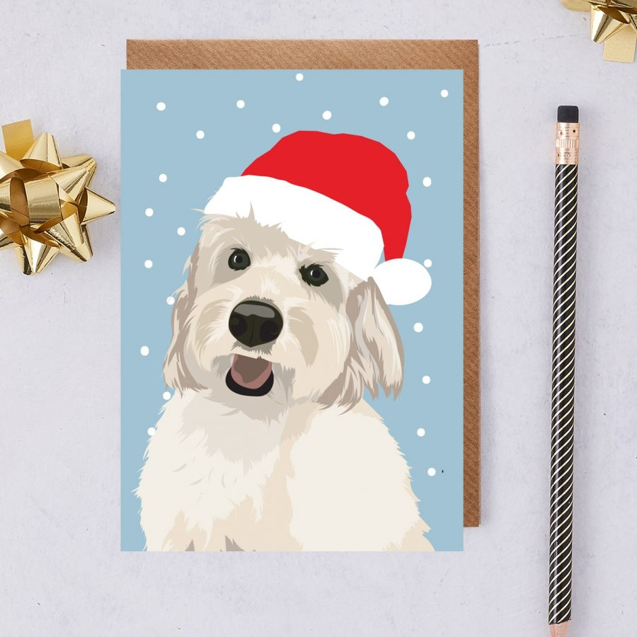 Christmas Card Luxury Designer Personalised Message Sustainable Environmentally Friendly FSC Paper Plastic Free -