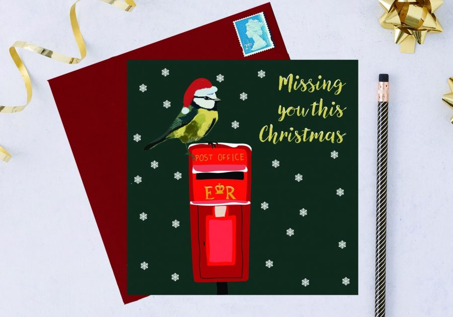 RSPB Christmas Card Blue Tit