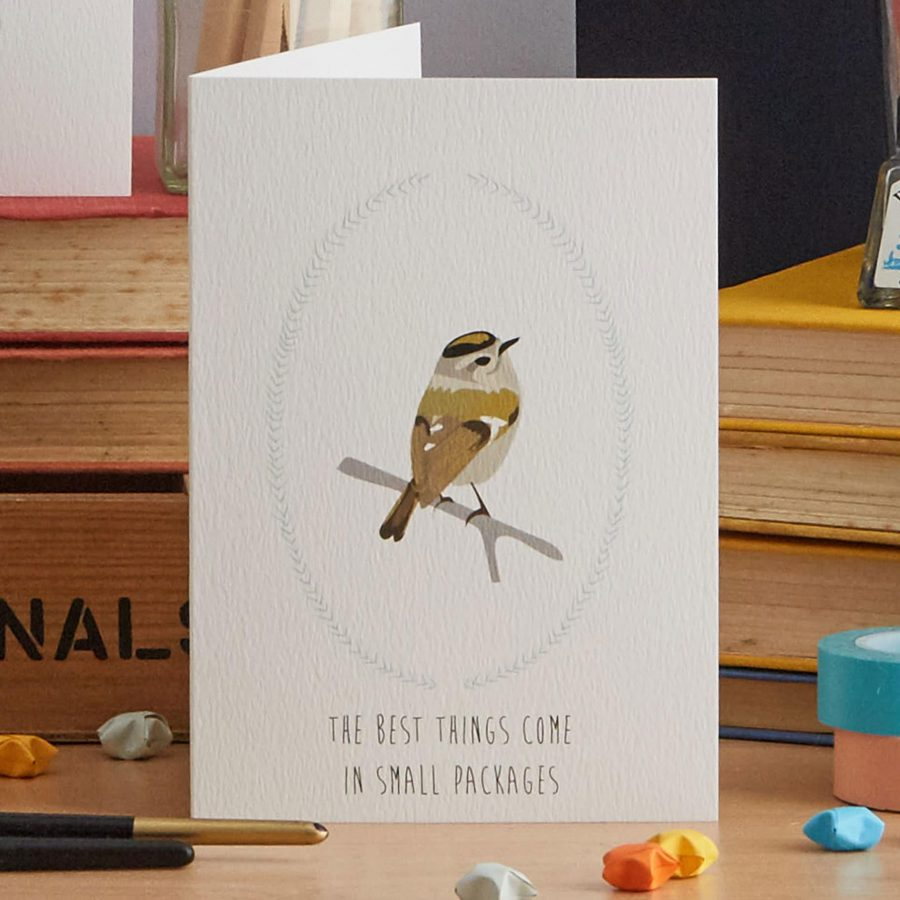 The Best things come in small packages greetings card designed by lorna syson stationery