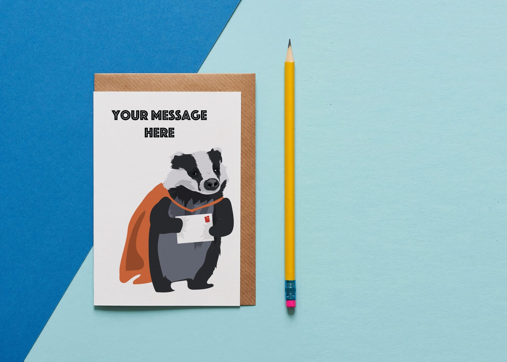 bespoke badger card
