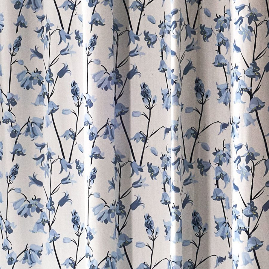 bluebell fabric for curtains designed by Lorna Syson