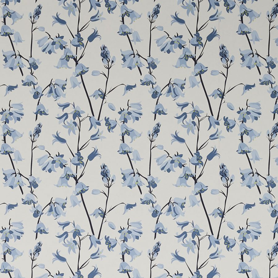 Bluebell Wallpaper UK Designer Upholstered Chair in Meadow Floral Fabric by Lorna Syson