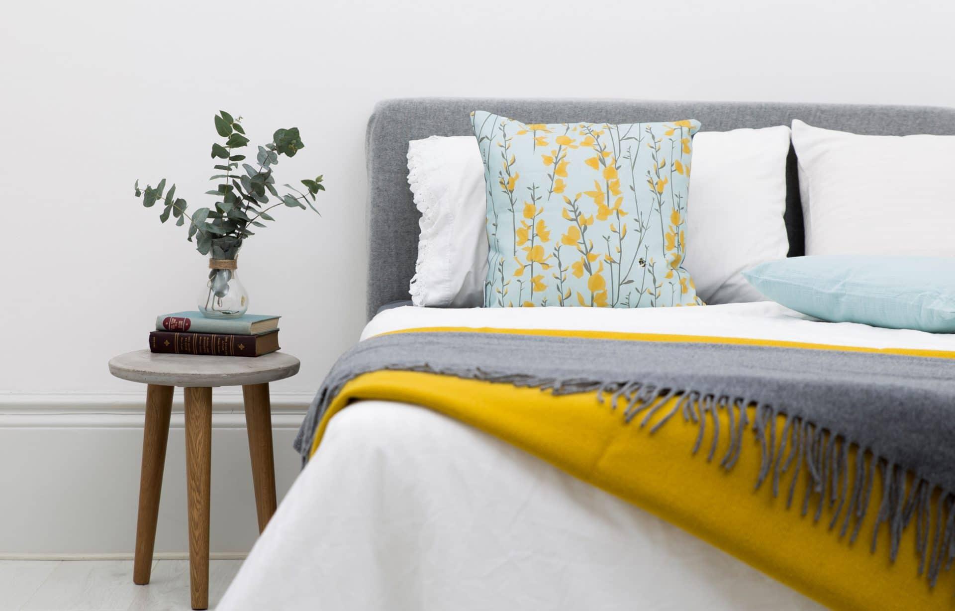 Broom and Bee Sky Cushion