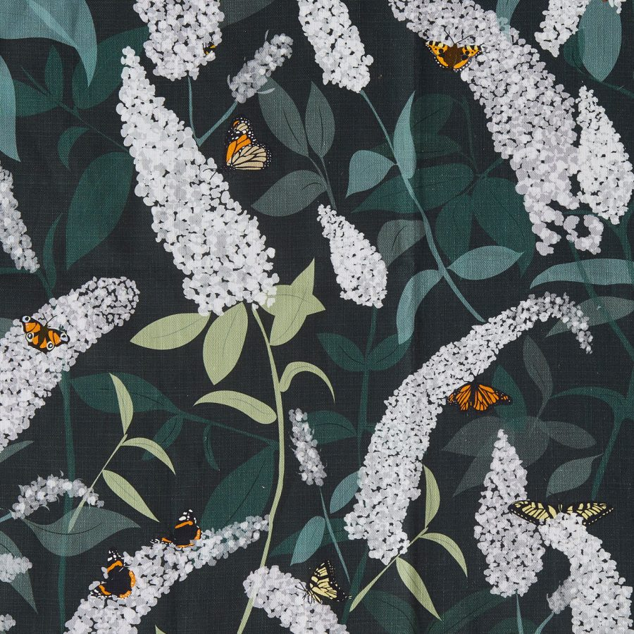buddleia fabric for cushions - Bees and Buddleia - Lorna Syson