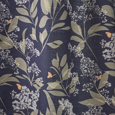 Butterfly Fabric - fabric for upholstery - Purple and Green Butterflies - Lorna Syson