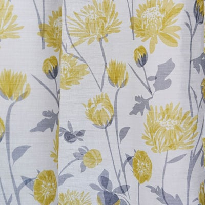 Yellow floral fabric - Bee and flower fabric - Lorna Syson