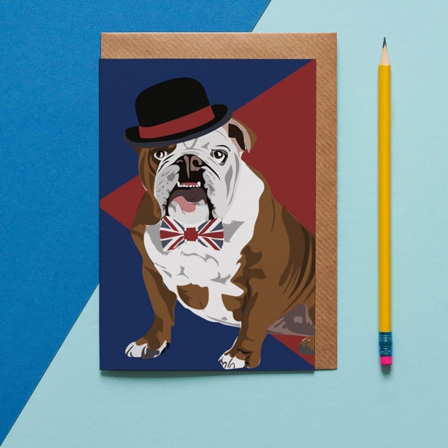 Dog Card - Churchill The British Bulldog