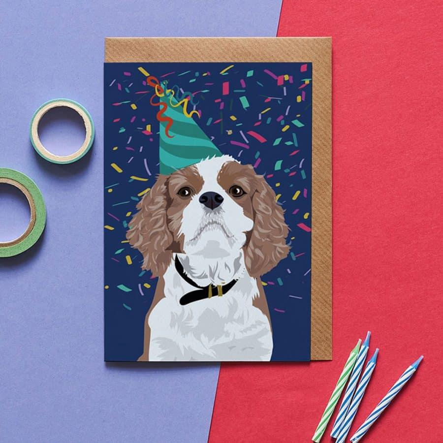 Dog Card - Darcey The King Charles - Lorna Syson