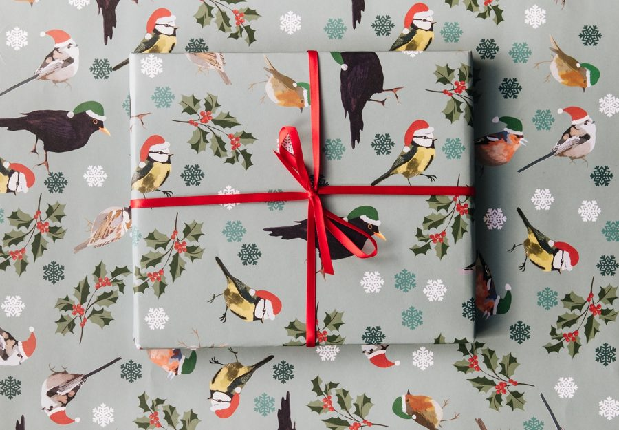 Gift Wrap featuring British Birds present, dawn chorus, rspb, wrapping paper, gift wrap, luxury wrapping paper christmas wrapping paper RSPB