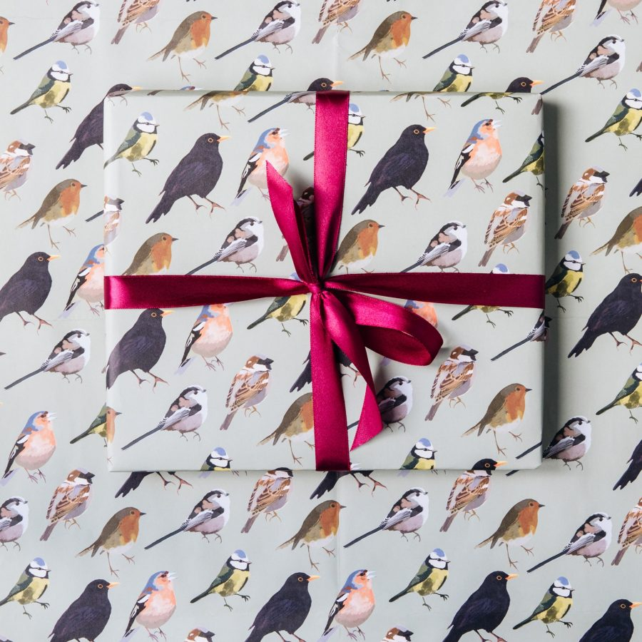 Gift Wrap featuring British Birds present, dawn chorus, rspb, wrapping paper, gift wrap, luxury wrapping paper