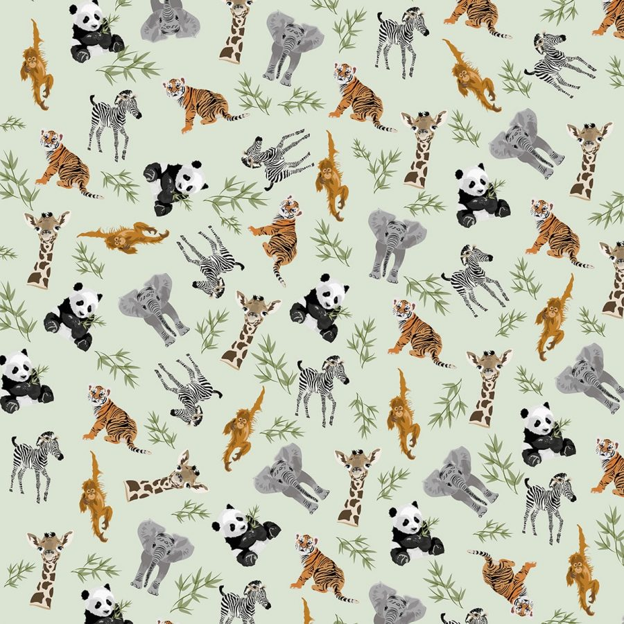 Go Wild Wrapping Paper - Animal Illustration - Lorna Syson