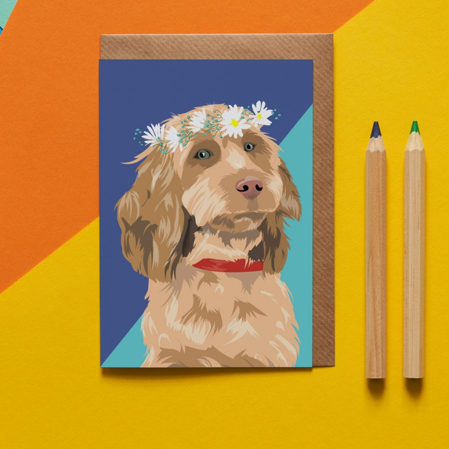 Dog Card - Goldie The Cockapoo - Lorna Syson