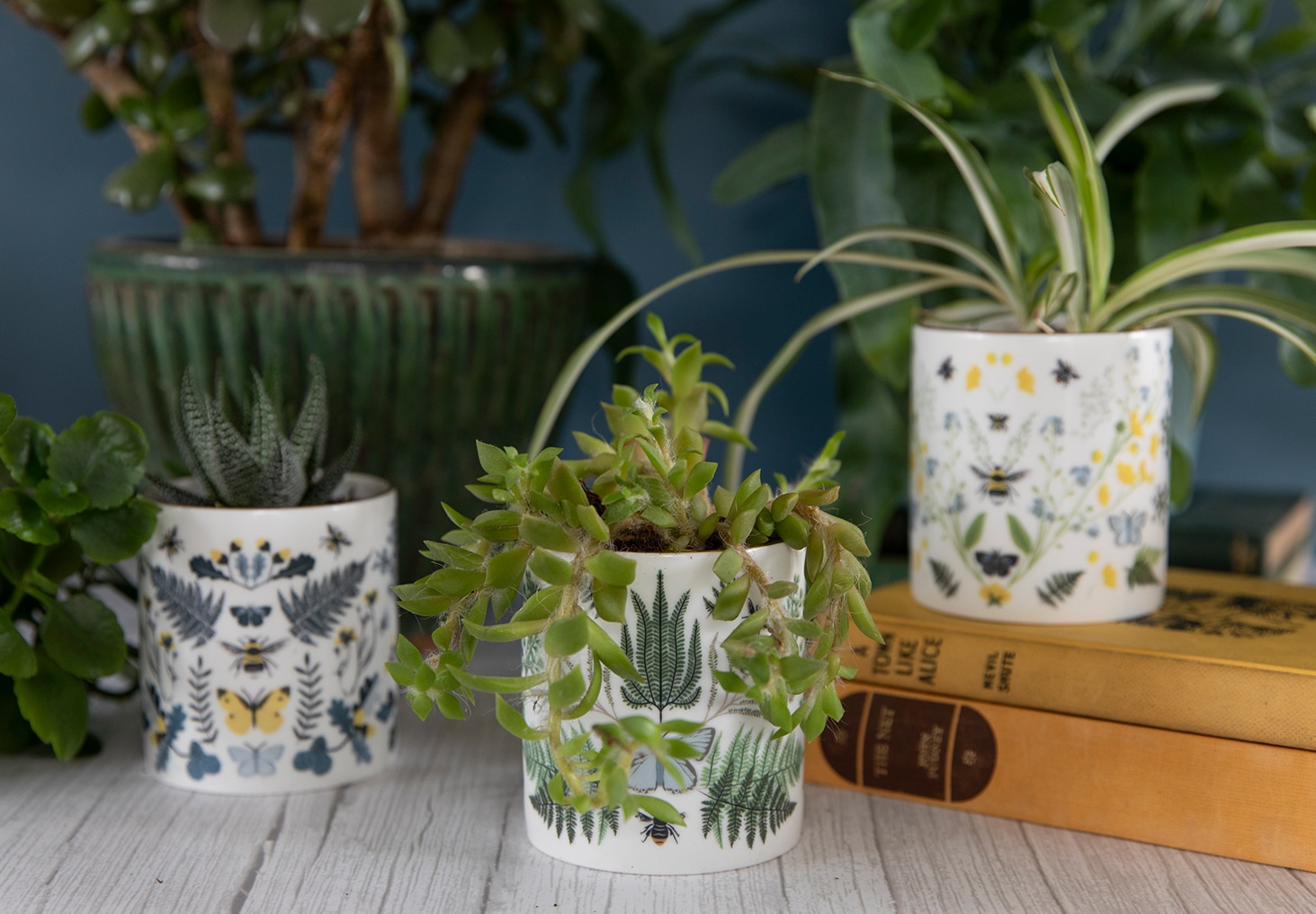 Luxury Ceramic Scented Candle Gifts Handmade UK Luxury Candles Reusable British Wilflowers English Yellow Bee Buttercup Designer Floral Butterfly Flowers Vegan Coconut Wax Plants