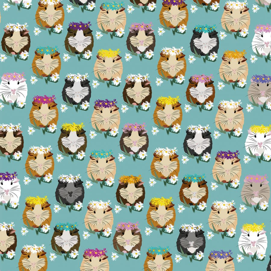 Guinea Pig Wrapping Paper - Illustration - Lorna Syson