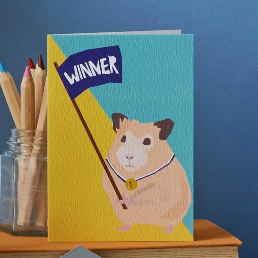 harry the hamster card lorna syson