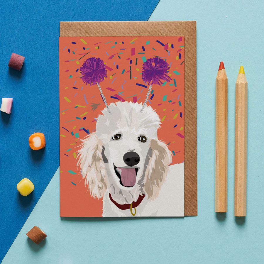 Dog Card - Harley The Poodle - Lorna Syson