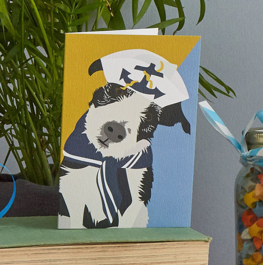 jack russell terrier dog card by lorna syson stationery