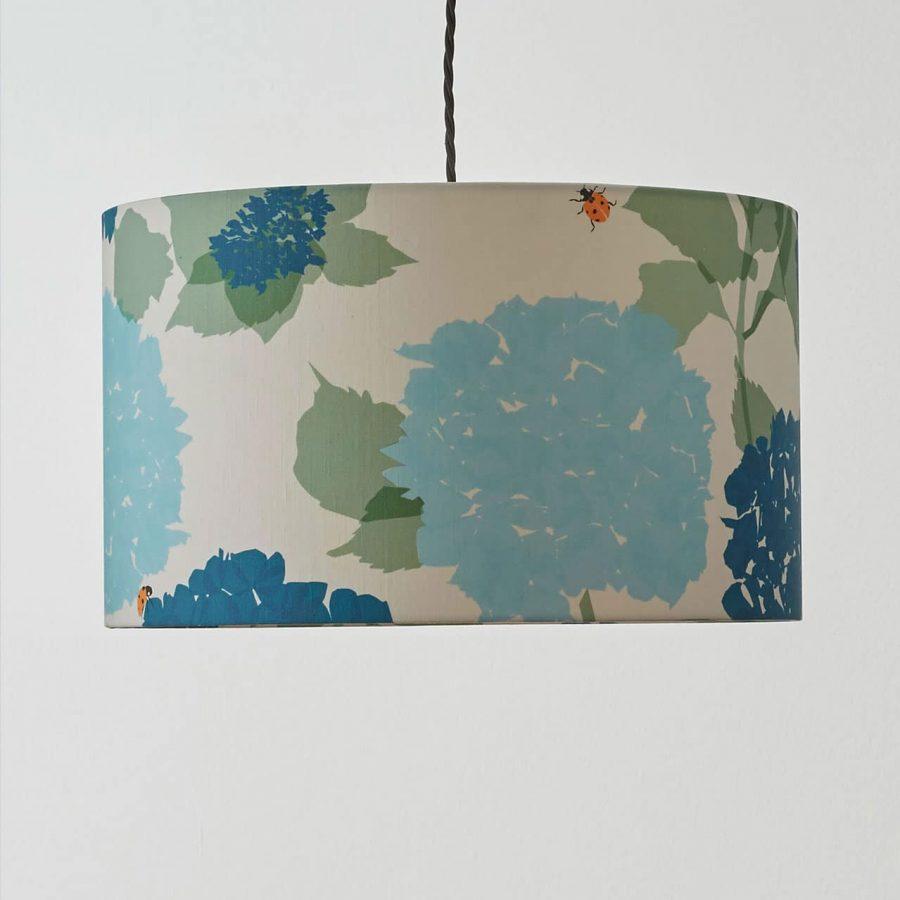 hydrangea lampshade by lorna syson