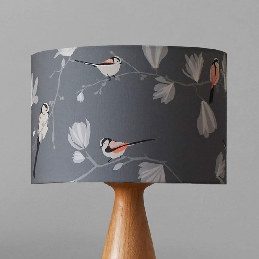 long tailed tit lampshade designed by lorna syson