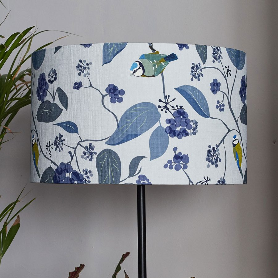 lorna syson spring ivy blue lampshade