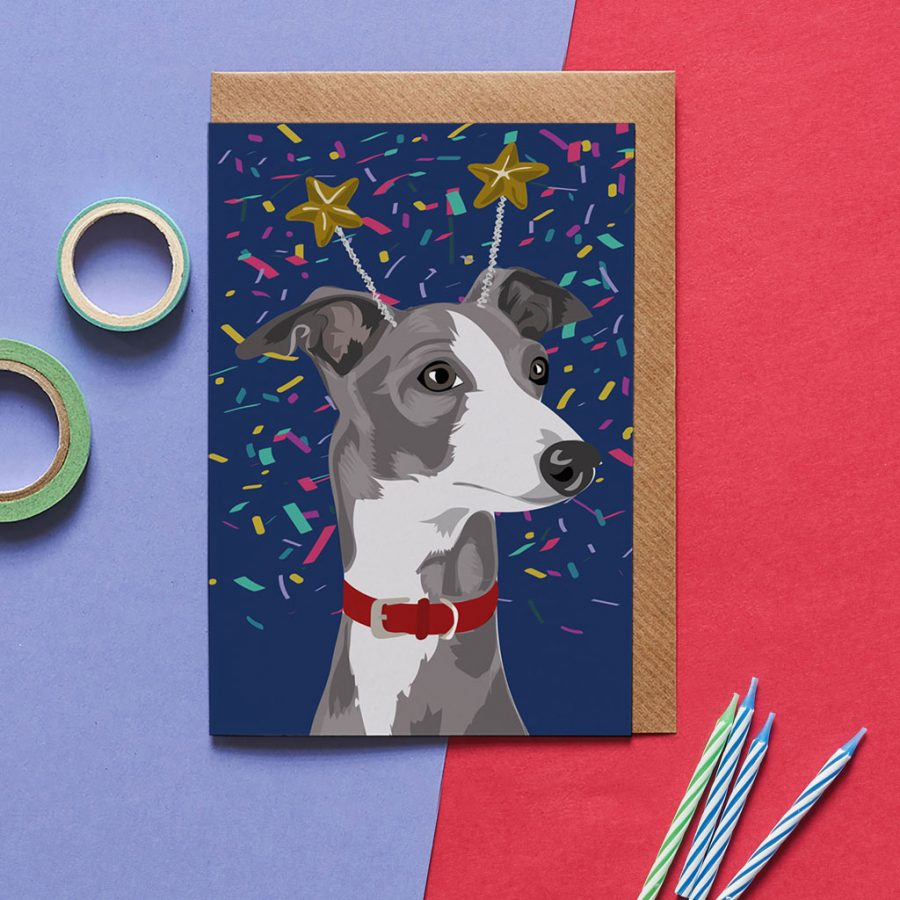 Dog Card - Nelson The Whippet - Lorna Syson