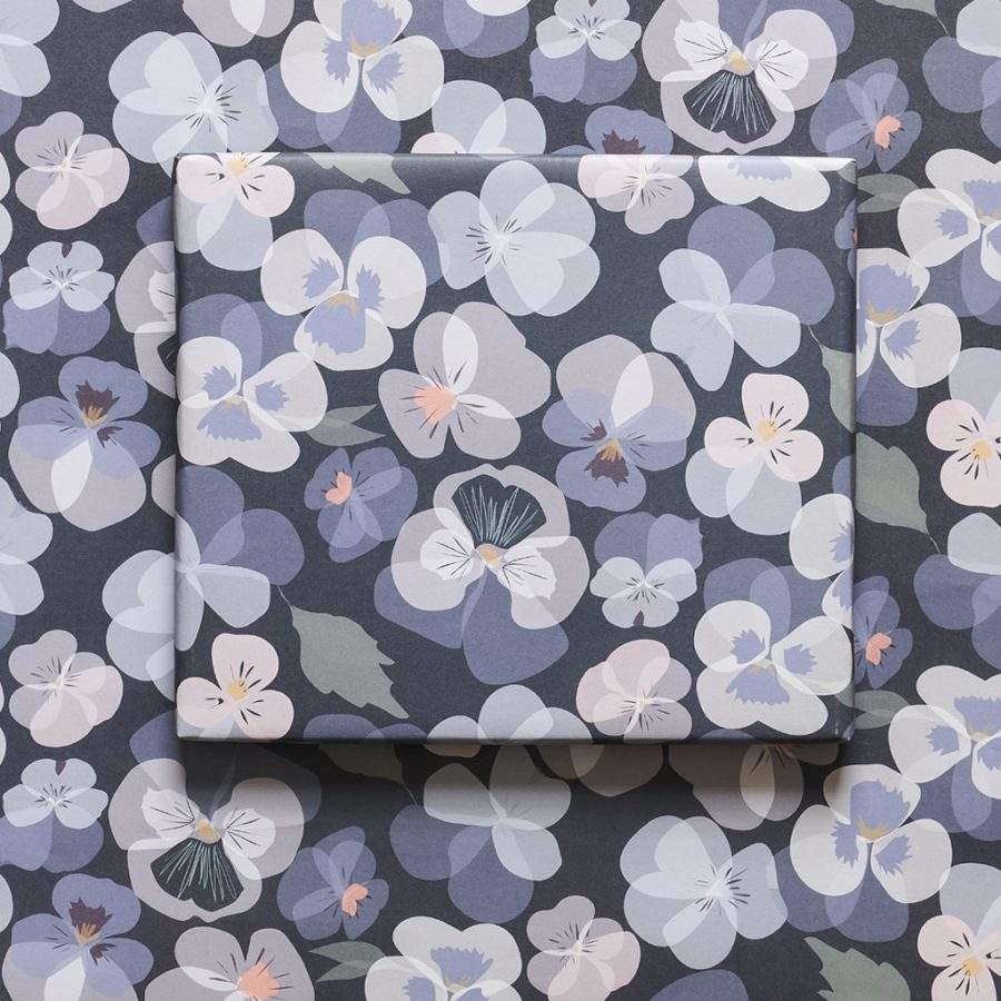 wrapping paper, luxury wrapping paper, gift wrap, plastic free, FSC Paper, enviromentally friendly, sustainable, birthday paper, birthday wrapping paper. giftspansy wrapping paper designer floral wrapping paper by Lorna Syson