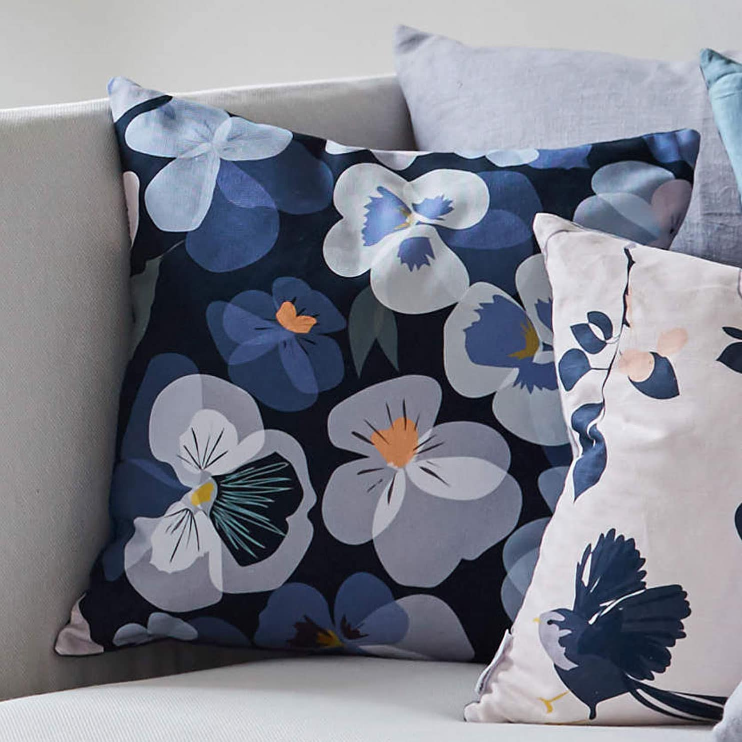floral cushion by lorna syson