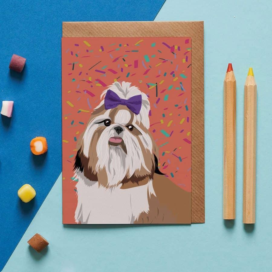 Dog Card - Princess The Shih Tzu - Lorna Syson