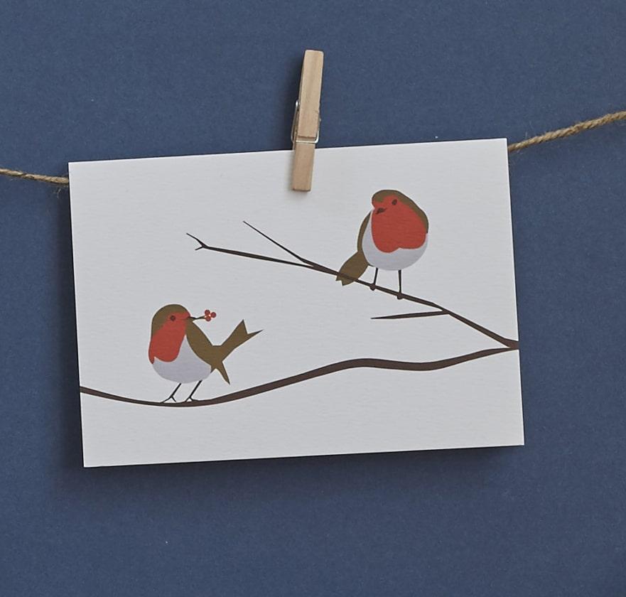 lorna syson robin greeting card