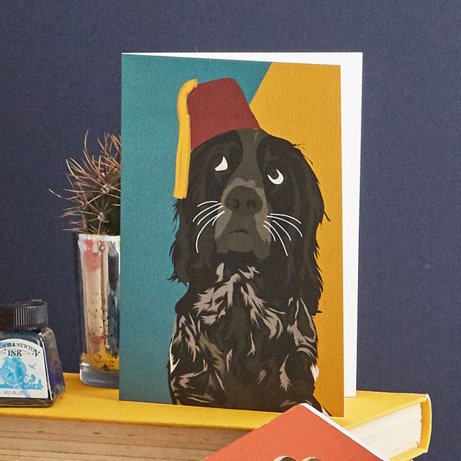 rolf dog greetings card lorna syson stationery