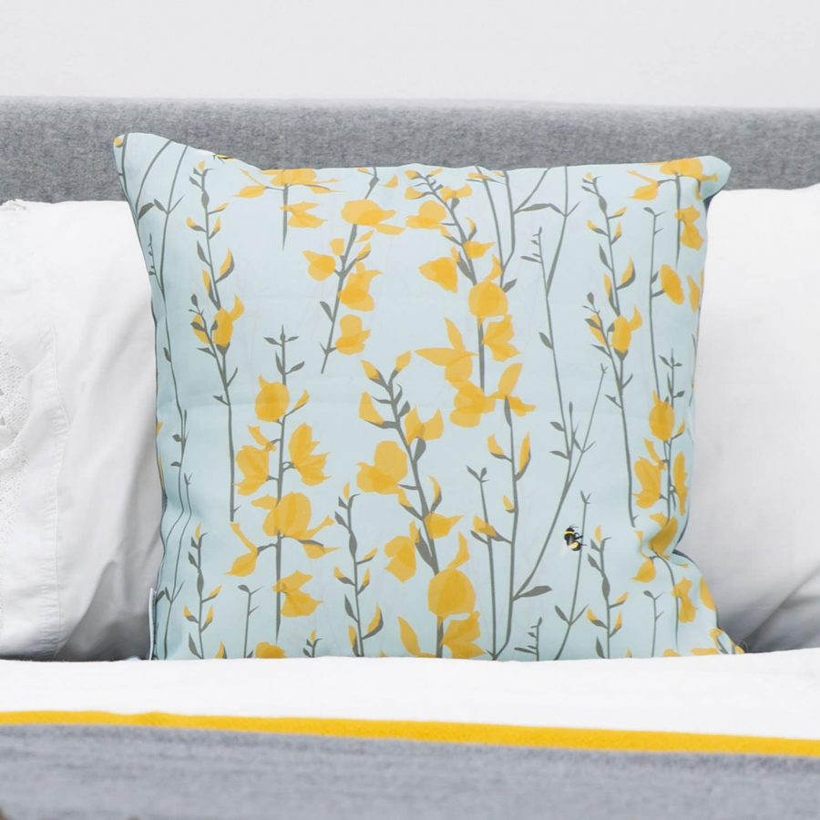 bee cushion - broom and bee - lorna syson homeware
