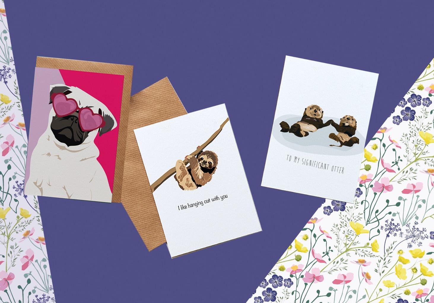 valentines otter card