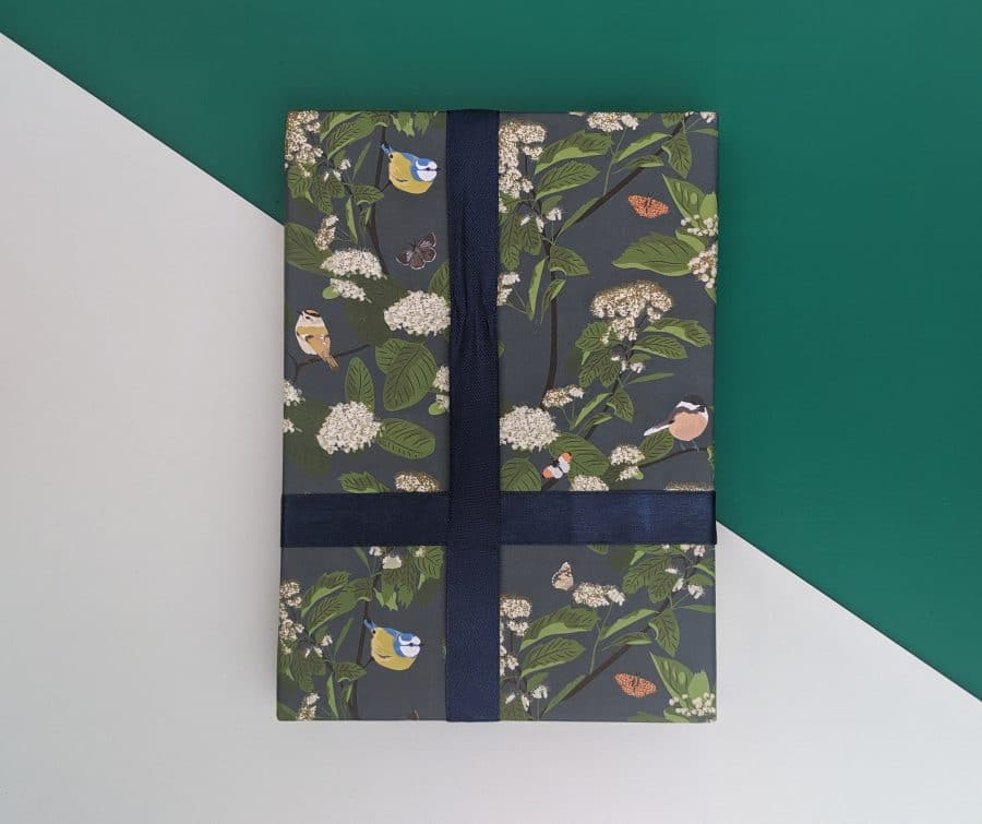 blue tit bird blue tit bird wrapping paper