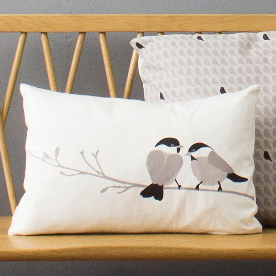 willow tit cushion by Lorna Syson