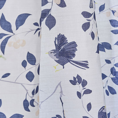 wren bird fabric - Upholstery fabric - Wren and Cherry - Lorna Syson