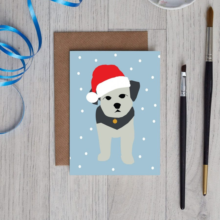 Jenkins the dog Christmas Cards