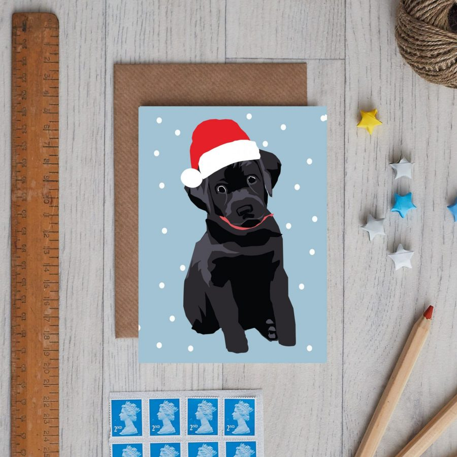 Christmas peggy black labrador Christmas cards